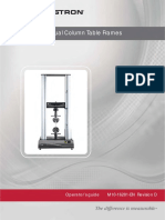 3360 Dual Column Table Frames Operator Guide