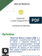 - Lecture 5 (Mass Balance)