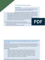 Instrumentos internacionales y regionales.