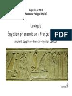 Langue pharaonique lexique introduction