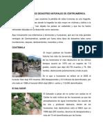 DESASTRES NATURALES DE CENTROAMÉRICA Y FAUNA