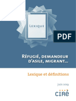 Lexique Et Définitions Des Termes Les Plus Communs Liés Aux Migrations