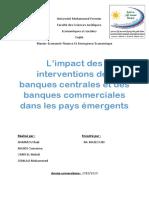 L'impact des interventions des banques centrales et des banques commerciales dans les pays émergents