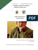 DR. ADOLFO VÁSQUEZ ROCCA _ 'PETER SLOTERDIJK; EXTRAÑAMIENTO DEL MUNDO, ABSTINENCIA, DROGAS Y RITUAL' _Gazeta de Antropoloía_ UGR