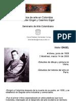 Presentación Walter Engel y Casimiro Eiger, Seminario Arte Colombiano, Universidad del Cauca