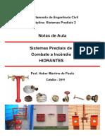 APOSTILA SISTEMA PREDIAIS DE COMBATE A INCÊNDIO - HIDRANTES.pdf