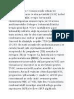 Principalele tipuri convenționale actuale de tratament cu cancer de sân metastatic
