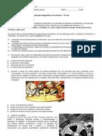 Avaliação Diagnóstica Em História - 9º Ano