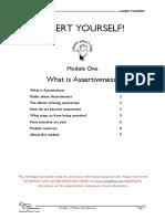 Assert Yourself - 01 - What is Assertiveness
