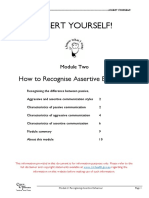 Assert Yourself - 02 - How to Recognise Assertive Behaviour