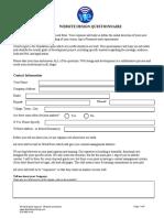 Webdesign Questionnaire
