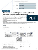 Calculation of wind load on building side walls - Eurocode 1