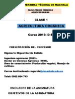 Clase 1 , Conferencia 1, Agricultura orgánica