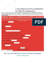 Calcule o ROI que sua empresa terá ao implantar a Terceirização da Folha de Pagamento