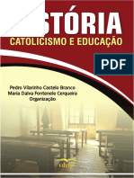 Livro HISTÓRIA, CATOLICISMO E EDUCAÇÃO_e-book
