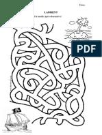 Fișă labirint- grupa mare