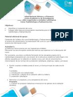 Cuestionario Unidad 1 - Fase 1 - Realizar reconocimiento y pre saberes  del curso