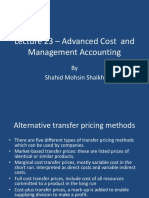Lecture 23 - Advanced Cost and Management Accounting