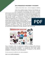 Articulo Sobre Modelo Pedagógico Moderno y Eficiente