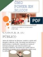 COMO EXPONER EN PUBLICO
