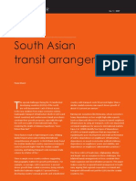 Case for South Asian Transit Arrangement