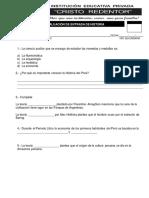EXAMEN DE ENTRADA 1RO DE SECUNDARIA