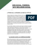 MATERIAL 3 SEMANA EXCLUSIÓN SOCIAL E INCLUSION SOCIAL