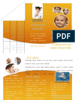 Tríptico desarrollo infantil