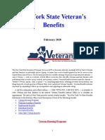 Vet State Benefits - NY 2020