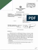 National Transmission Comm vs Spouses Taglao