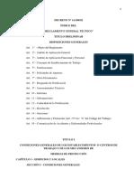 2.1-Reglamento General Tecnico de Seguridad, Higiene y Medicina del Trabajo-Corregido-Dcto. Nº 14390-92  (2).pdf