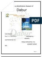 A Project on Distribution Channel of DABUR