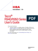 Toshiba Manual Tecra R950-R940