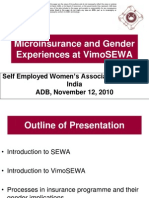 Microinsurance and Gender Experiences at VimoSEWA