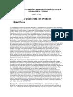 CLONACION Y MANIPULACION GENETICA - Rafael Vicuña