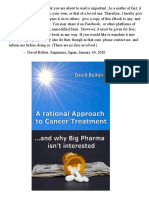 A Rational Approach to Cancer Treatment by David Bolton