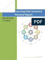 kolb learning style inventory results