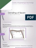 Detailing of Beam