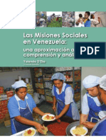 Las Misiones Sociales Una ion a Su Comprension y Analisis