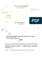 DO 174-17 Rules Implementing Articles 106 to 109 of the Labor Code, As Amended(1)