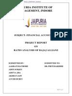 Ratio Analysis of Bajaj Allianz