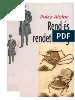 Polcz Alaine - Rend es rendetlenseg