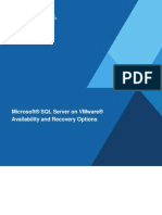 SQL Server on VMware - Availability and Recovery Options