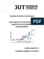 POWER SYSTEM IV RESEARCH ASSIGNMENT
