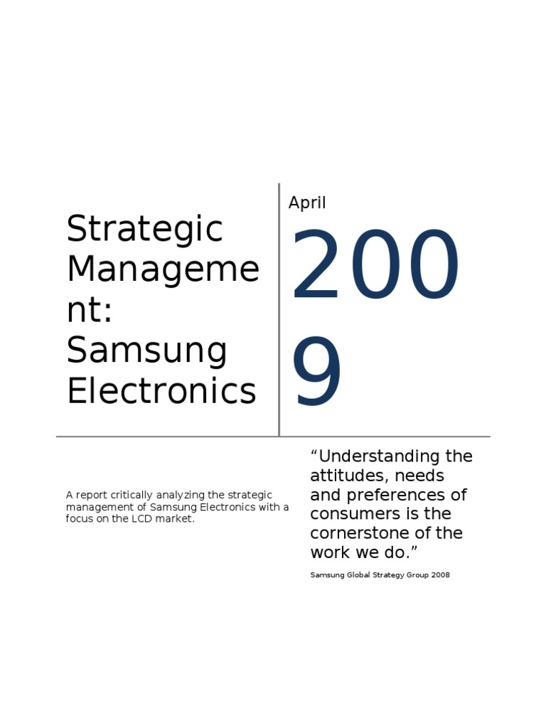 management and samsung Samsung company organizational structure - download as word doc (doc / docx), pdf file (pdf), text file (txt) or read online.