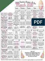 2020 March Festal Calendar