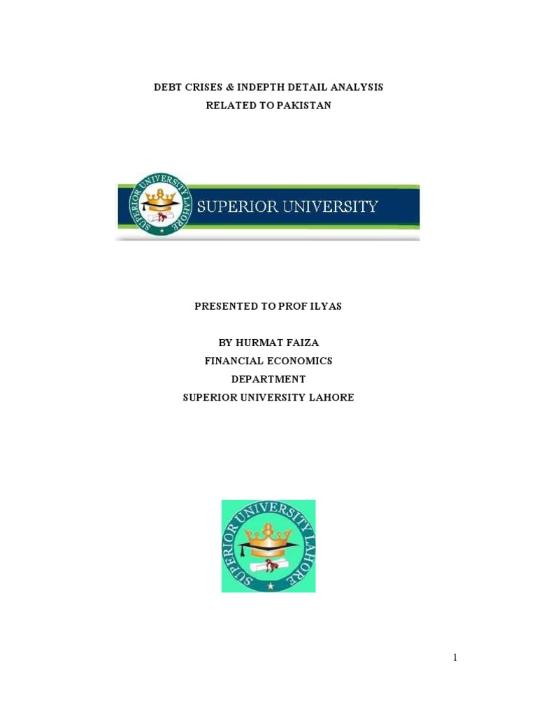 thesis on debt crisis in pakistan