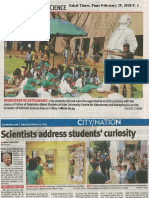 Science Day ST 29Feb2020 News