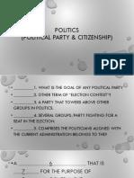 quiz POLITICS