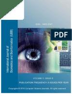 International Journal of Biometrics & Bioinformatics (IJBB) Volume (3)